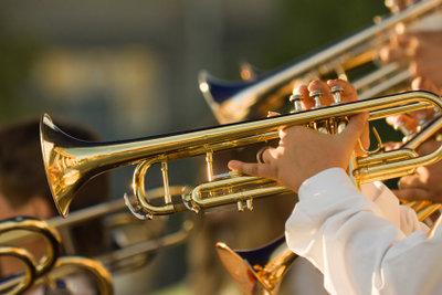Eine Trompete mit Pumpventilen