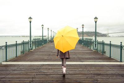 Auch bei Regenwetter sollten Sie raus gehen.