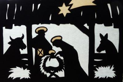 Basteln Sie originelle Weihnachtskarten selber.