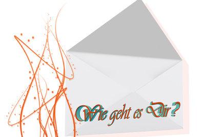Ein Brief ist ein schönes Abschiedsgeschenk für Kinder, die bald in die Schule kommen.