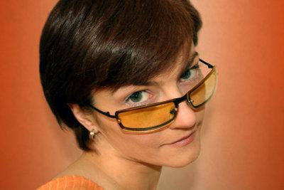 Ein Sehtest kann ohne Brille absolviert werden.