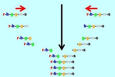 Vereinfachte Darstellung der Replikationsgabel