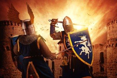 Im Mittelalter waren viele Ritter unterwegs!
