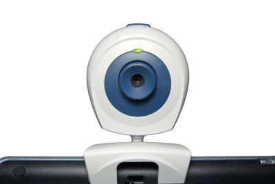 Mit der Webcam Fotos machen.