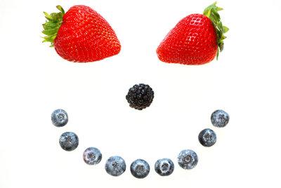 Smileys kann man aus allem kreieren - auch aus Buchstaben.