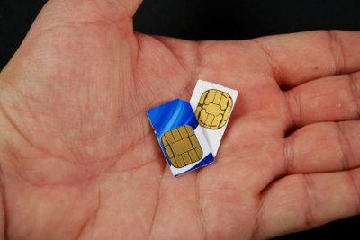 Micro-SIMs sind noch kleiner als handelsübliche SIM-Karten.