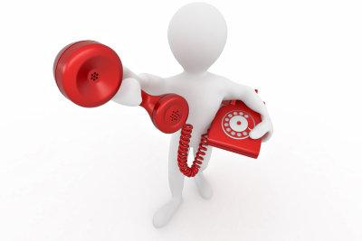 Eine Telefonstörung kann schnell behoben werden.