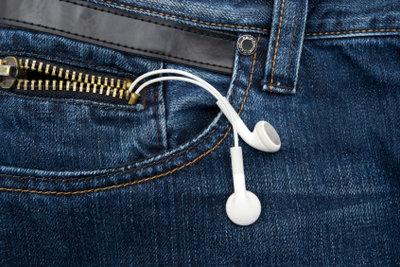 Der iPod Shuffle ist Apples kleinster iPod ohne Display.