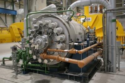 Ein Generator ist in jedem Kraftwerk.
