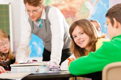 Im Deutschunterricht lernen Schüler Partizipien kennen.