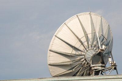 Eine Parabolschüssel zum Empfang von Funksignalen