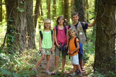 Herausforderungen bei einer Schnitzeljagd im Wald