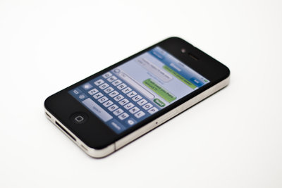 FaceTime auf dem iPhone 4 verwenden.