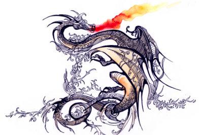 Der Drache - ein traditionelles japanisches Motiv.