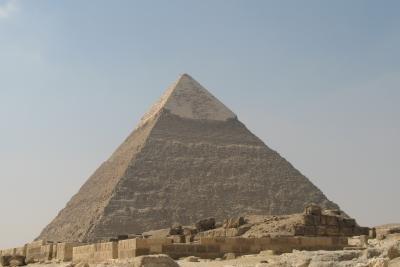 Die ägyptischen Pyramiden sind die bekanntesten.