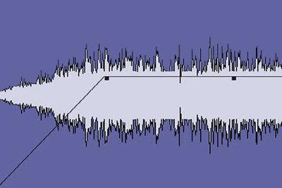 Solch eine Wellenkurve sehen Sie nach dem Audio-Import.