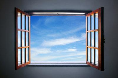 Mit Kunststofffenstern schonend umgehen.