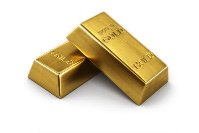 Viele Goldbarren lagern in Banken.