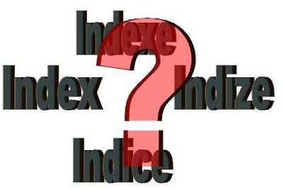 Was ist die Mehrzahl von Index?