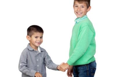 Wie groß die kleinen Männer wohl mal werden?