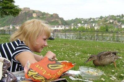 Ein Picknick macht Spaß.