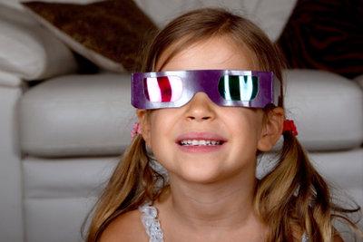 Mit einer speziellen Brillen können Sie in 3D fernsehen.