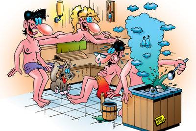 In der Sauna ist schwitzen erwünscht - im Berufsleben stören Schweißflecken jeden.