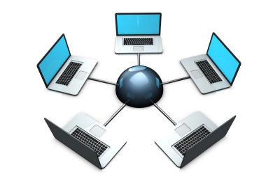 Hier interagiert ein Computer mit den anderen.