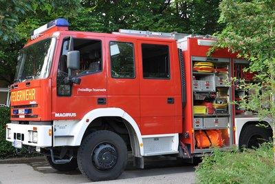 Bei einem Feuerwehreinsatz ertönt die Sirene.