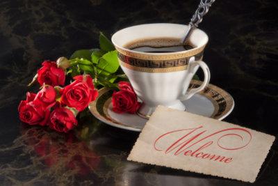 Zusammen Kaffee trinken verschönert das Date.