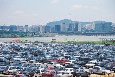 Über 1300 Autos braucht man, um einen Hektar Fläche zu bedecken.