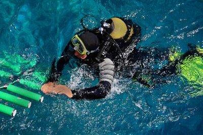 Der Sauerstoffpartialdruck spielt beim Tauchsport eine große Rolle.