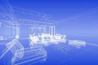 Mit einem Konstruktionsprogramm entwerfen Sie Möbel.