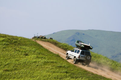 Das Berganfahren bedarf ein wenig Gefühl für die Kupplung.