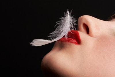 Rote Lippen bei blonden Haaren - na klar