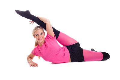 Muskulöse Oberschenkel durch entspannendes Yoga.