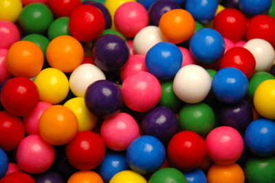 Viele bunte Bonbons