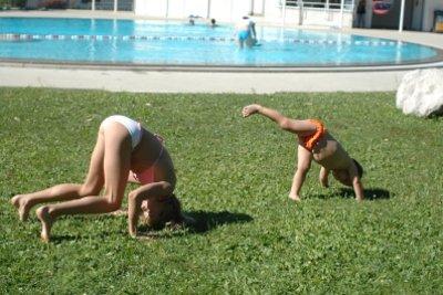 Turnen macht Kindern bereits Spaß.