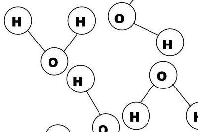 Die Dipole halten die Moleküle zusammen.