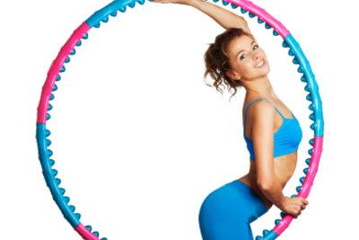 Hula-Hoop stellt ein wirksames Training dar.