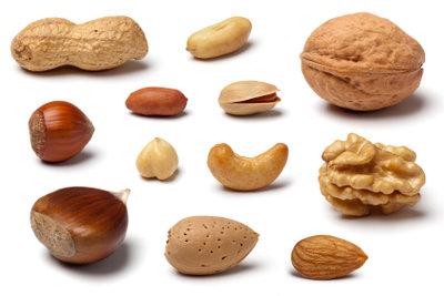 Nüsse haben viel pflanzliches Eiweiß.
