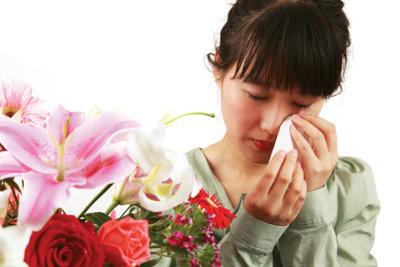Allergische Reaktion auf Blütenpollen.