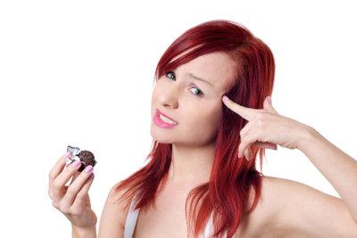 Rote Haare bleichen schnell aus.