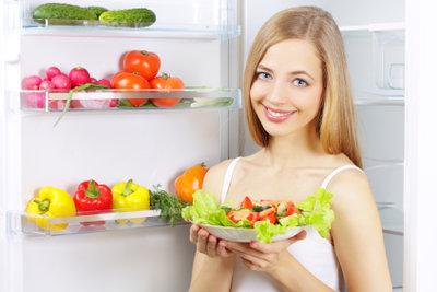 Im Kühlschrank hat alles seinen richtigen Platz.