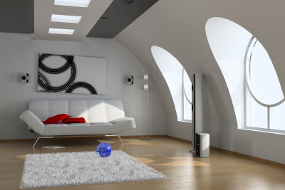 Wohnung mit Dachschräge
