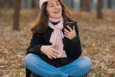 Musik auf dem Handy hören