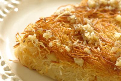 Orientalische Köstlichkeit - Kataifi mit Mandeln