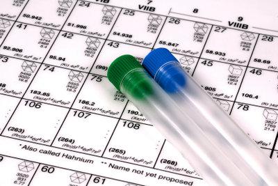Im Periodensystem haben alle chemischen Elemente ihren Platz.
