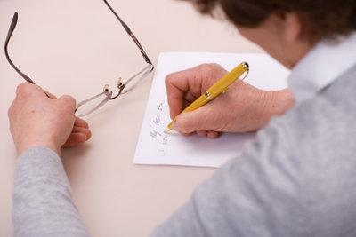 Eine einfache Unterschrift reicht für das Testament.