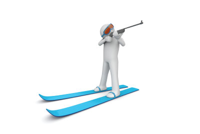 Für einen Biathlon muss man gezielt trainieren.